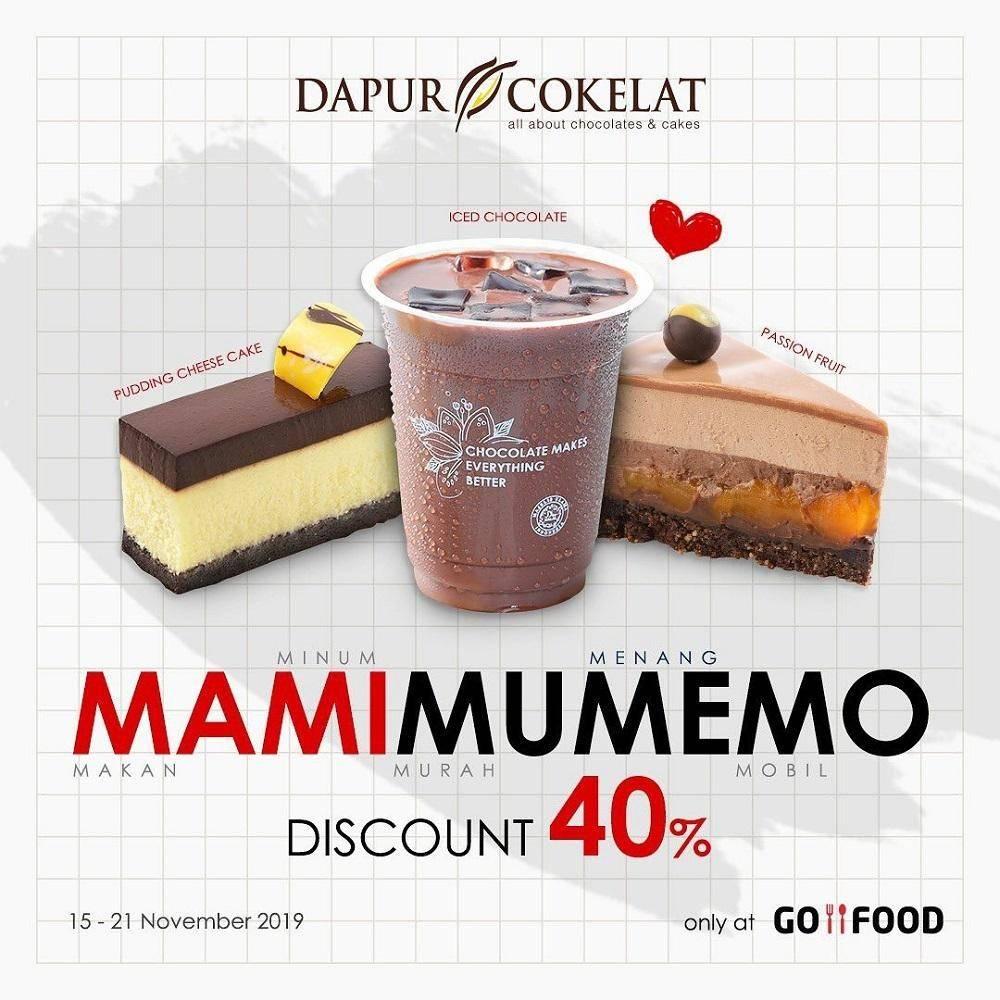 Dapur Cokelat Diskon 40% melalui GoFood MaMiMuMeMo