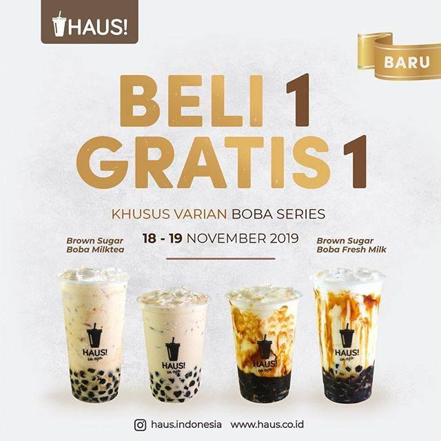 Haus Promo Beli 1 Gratis 1 Khusus Varian Boba Series