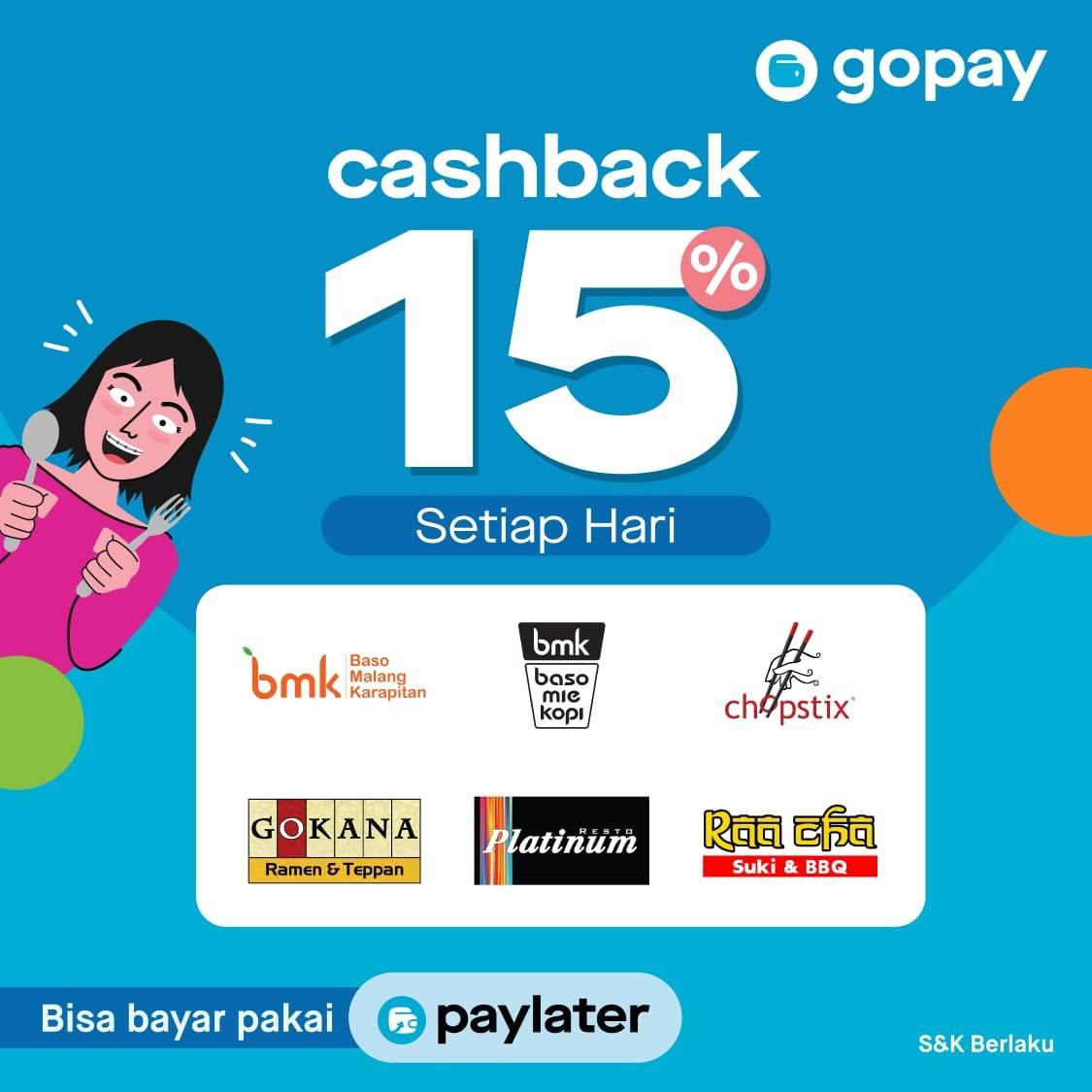 Gopay Promo Spesial Makan Hemat Dengan Cashback 15%