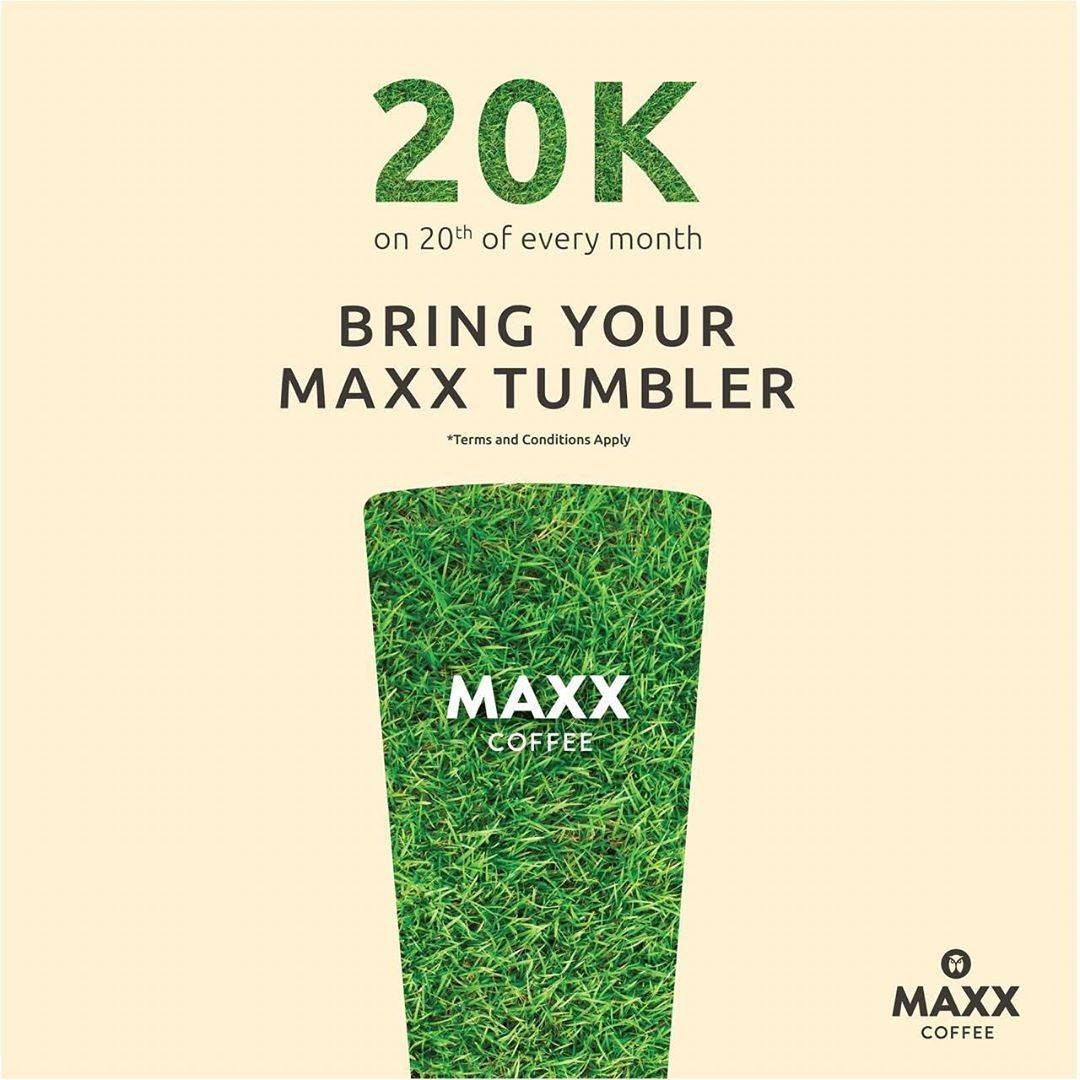 Maxx Coffee Promo Tumbler Day Only 20K on 20th Of Every Month