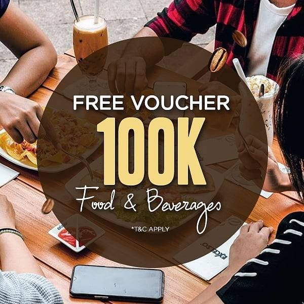 Maxx Coffee Promo Free Voucher Food & Beverages 100K