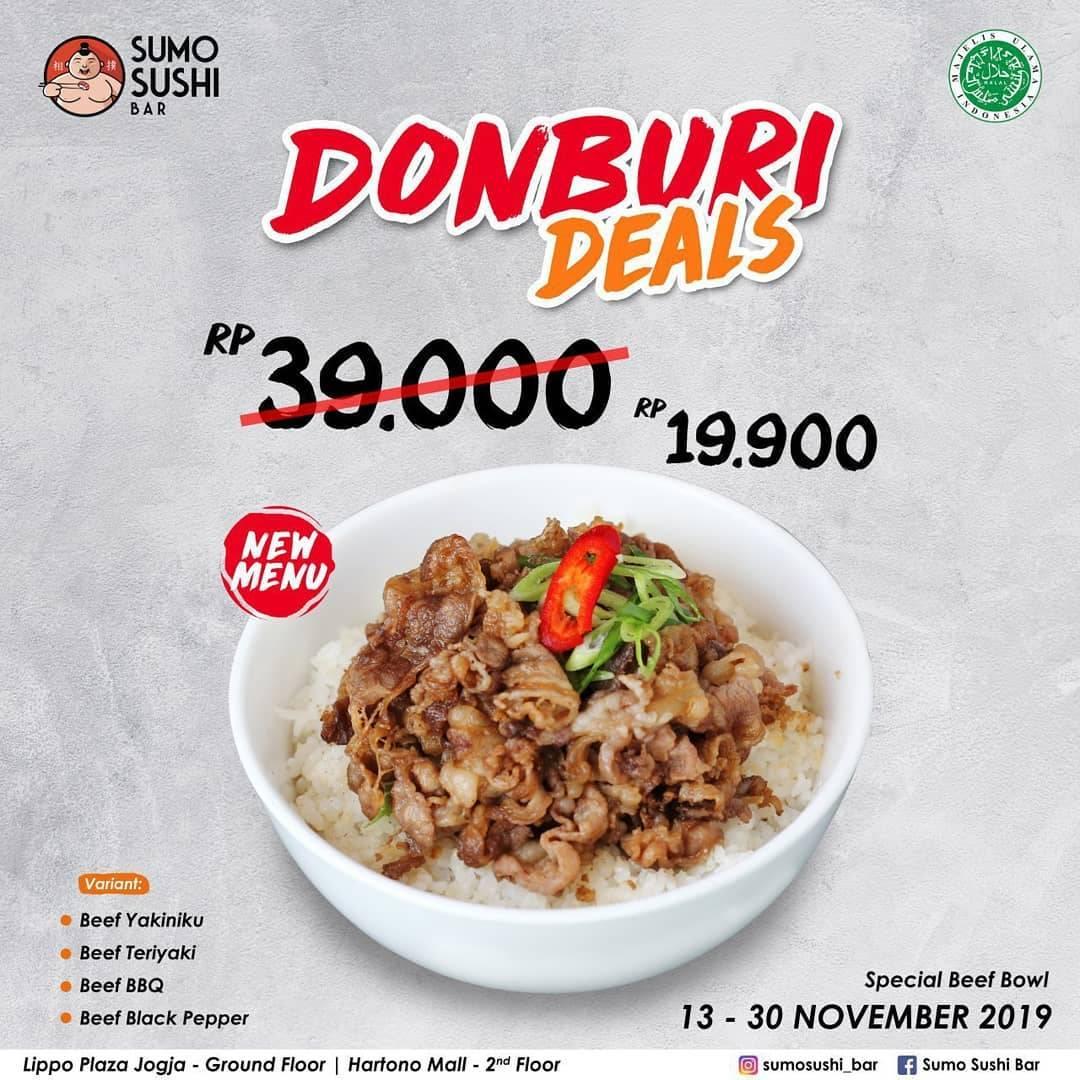 Sumo Sushi Bar Promo Menu Baru Donburi Hanya Rp 19.000