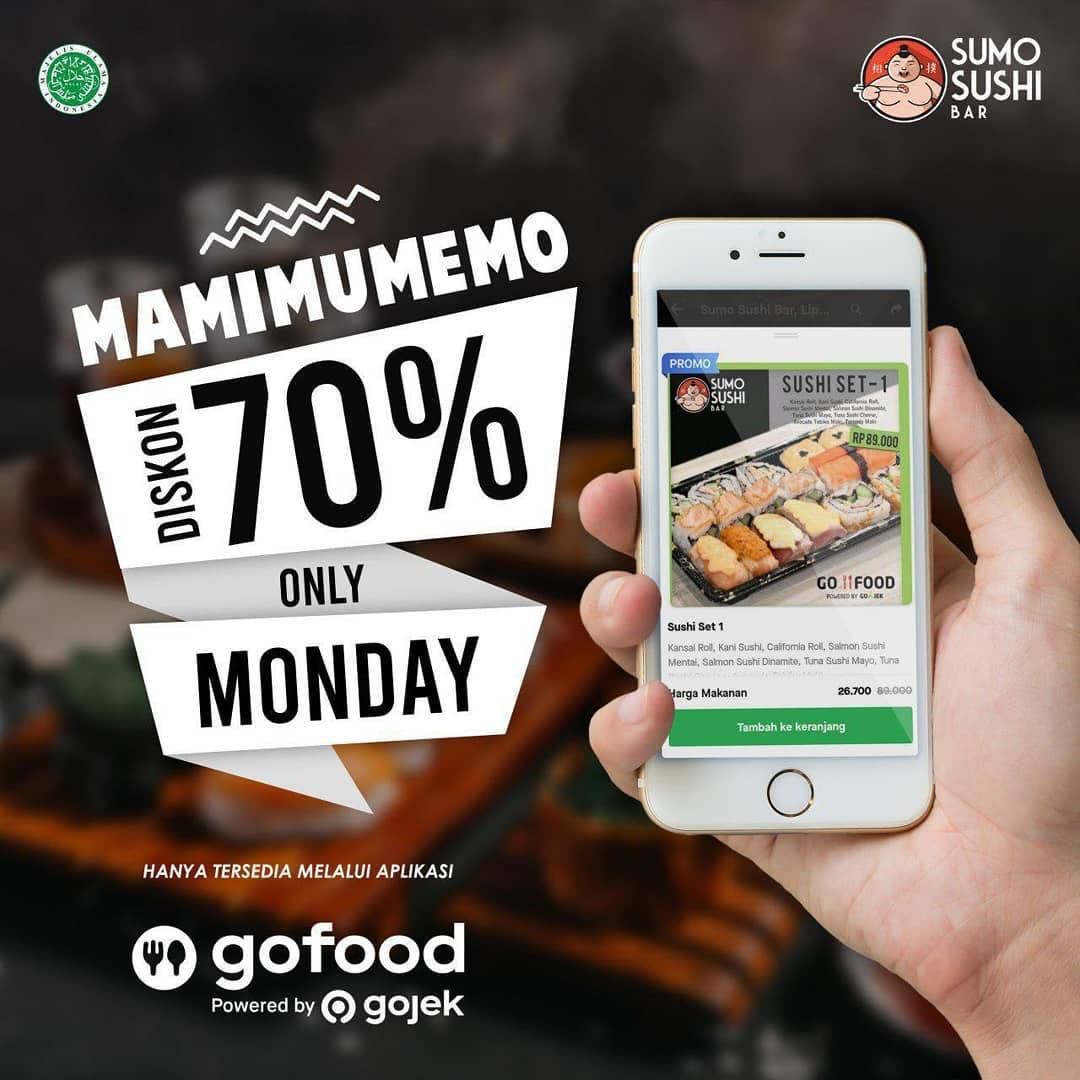 Sumo Sushi Bar Promo MaMiMuMeMo Diskon Hingga 70% via GoFood