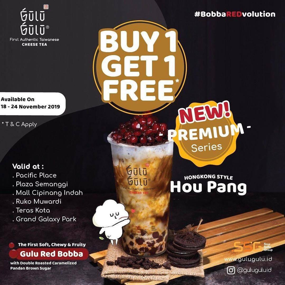 Gulu Gulu Promo Buy 1 Get 1 Houpang dengan follow, repost dan tag temen kamu di instagram