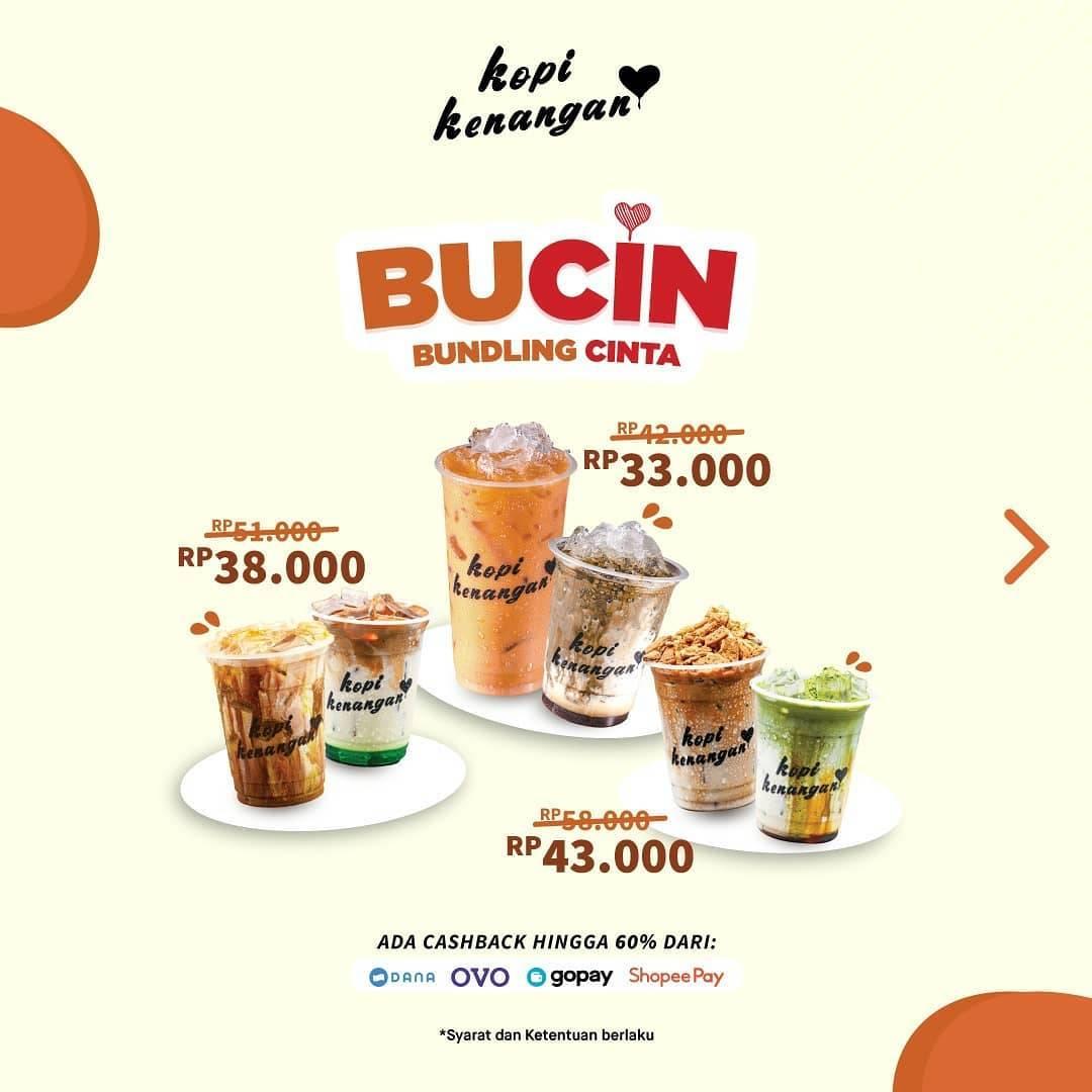 Kopi Kenangan Promo BuCin Bundling Cinta Paket 2 Minuman mulai Rp. 33.000