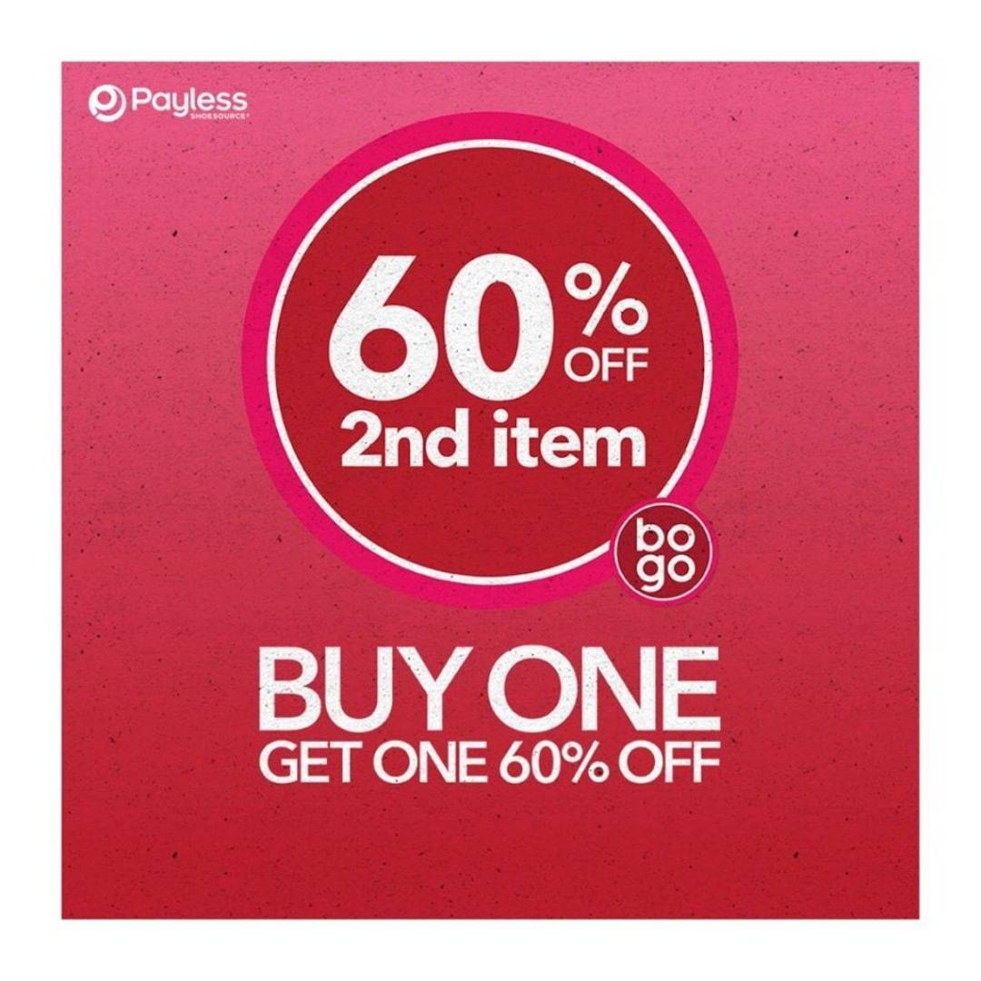 Payless Promo Buy 1 Get 60% Off For Second Item