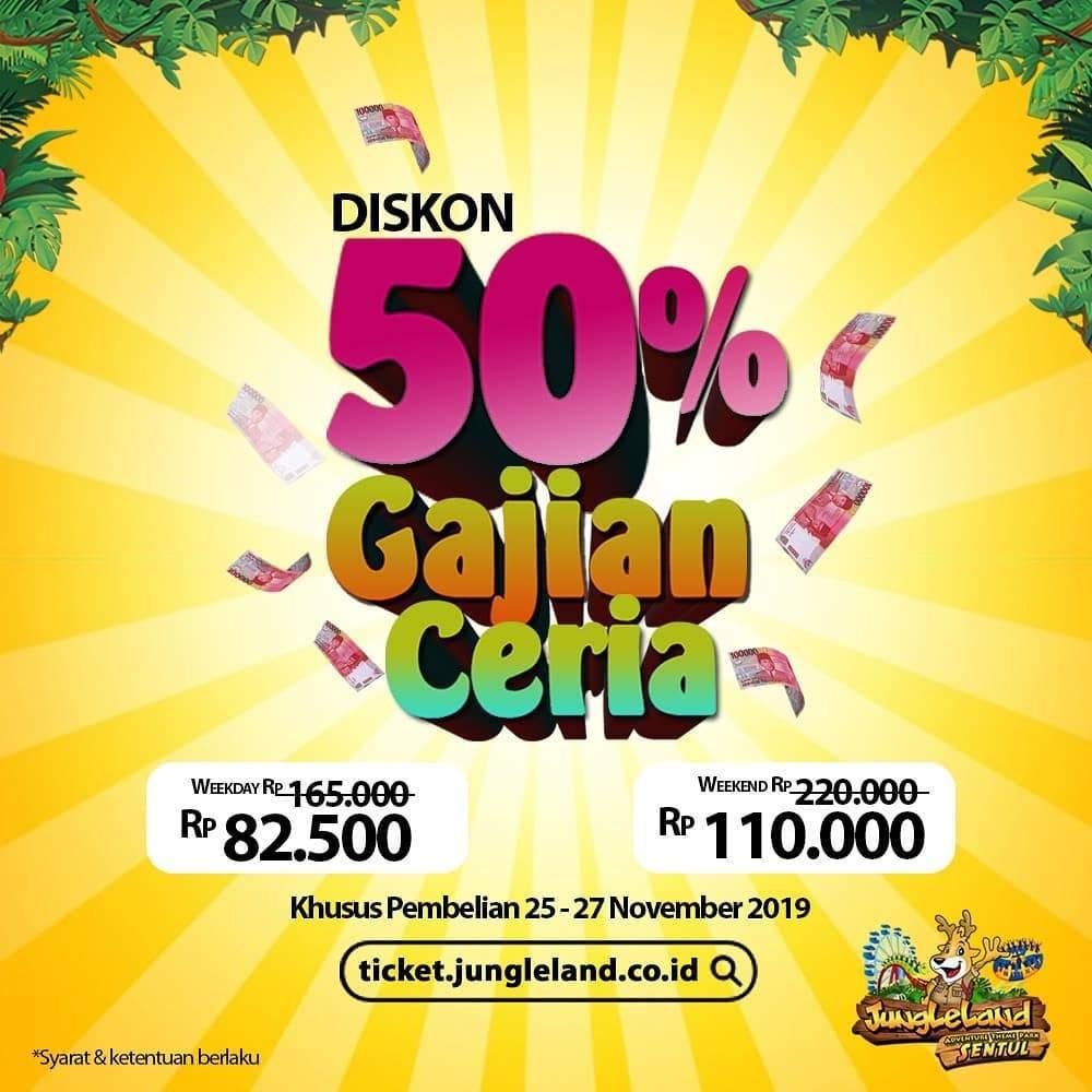 Jungleland Promo Payday Diskon Tiket Masuk 50%