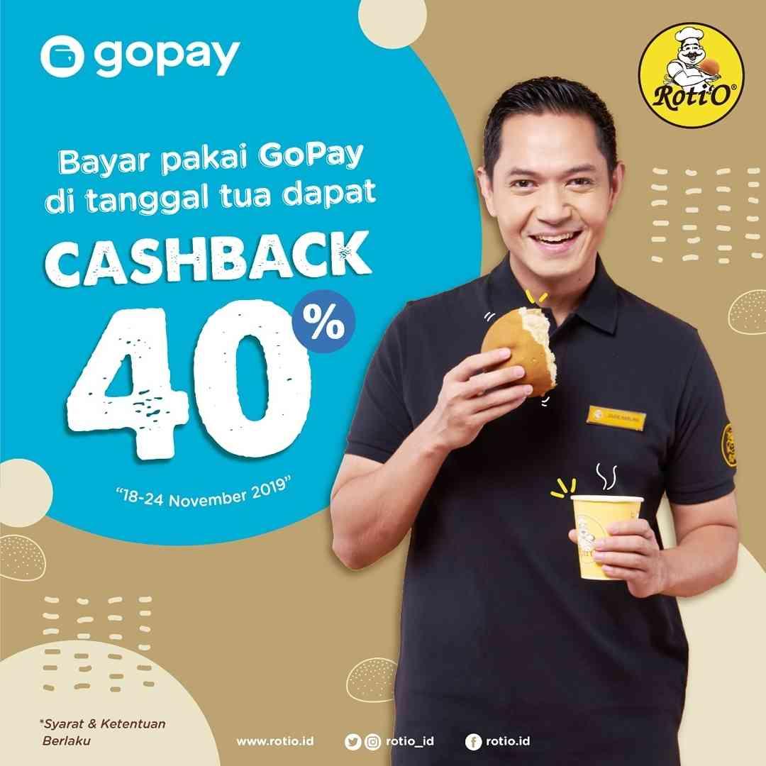 Roti'O Promo Cashback 40% dengan Gopay