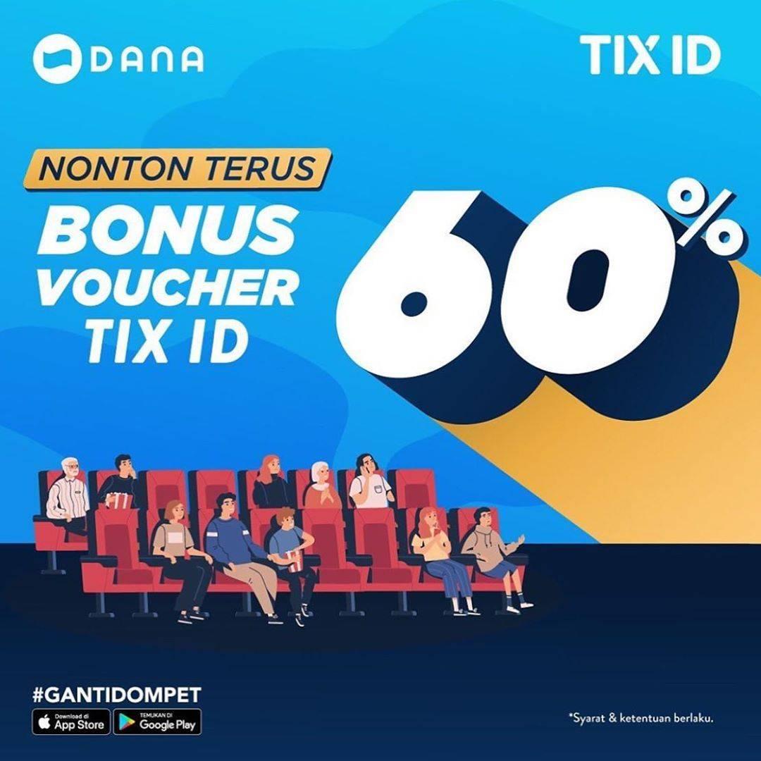 Tix ID Beli Tiket Dapat Voucher Cashback 60% dari DANA