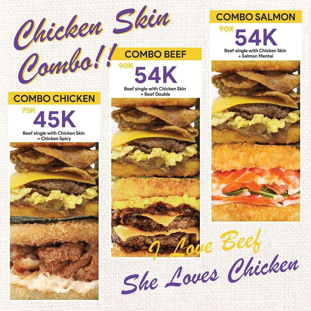 Burgushi Chicken Skin Combo Mulai Rp. 45.000 via GoFood