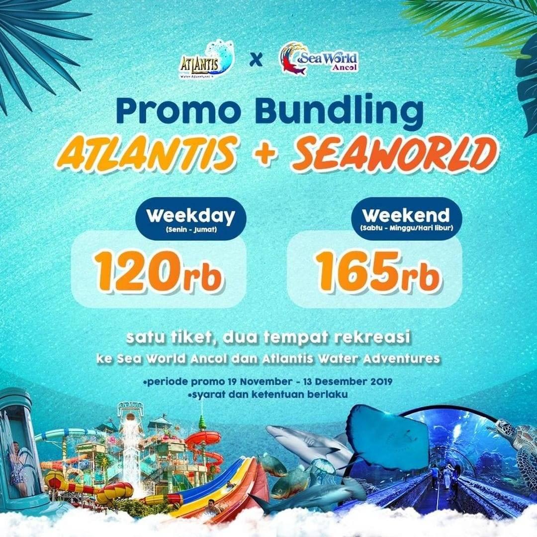 Atlantis Water Adventure Promo Spesial Bundling 2 Wahana, HTM Mulai Rp. 120.000!