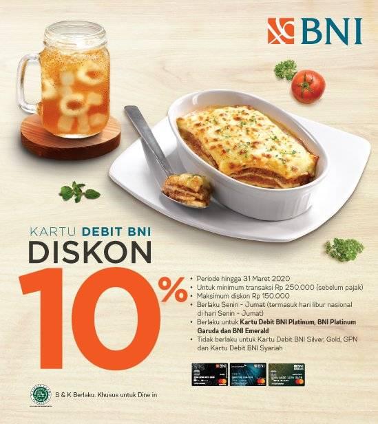 Pizza Hut Promo Diskon 10% Dengan BNI Card