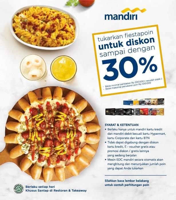 Pizza Hut Promo Mandiri Diskon Hingga 30% Dengan Fiestapoin