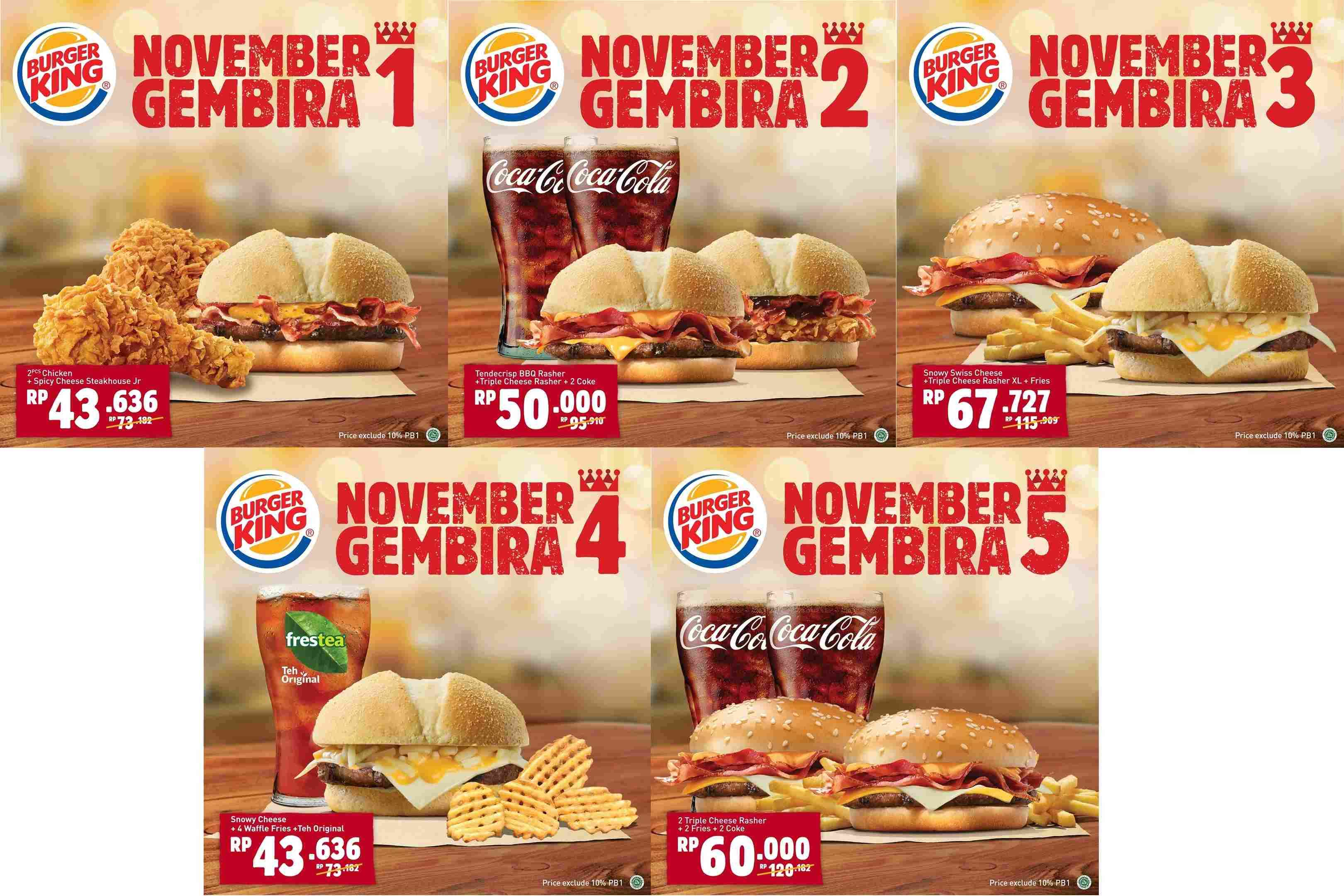 Burger King Promo Paket November Gembira mulai Rp. 43.636