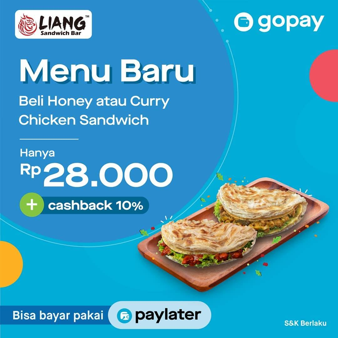Liang Sandwich Promo Harga Spesial untuk Menu Baru HONEY CHICKEN SANDWICH dan CURRY CHICKEN SANDWICH