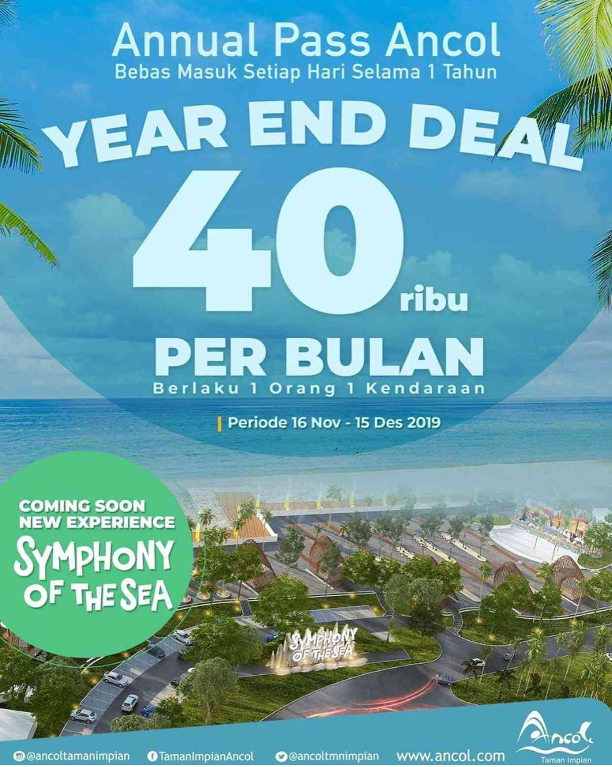 Ancol Taman Impian Promo Annual Pass Year End Deal – Hanya Rp. 40.000an per bulan*