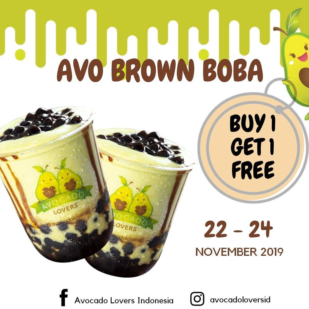 Avocado Lovers Promo Buy 1 Get 1 Free Avo Brown Boba