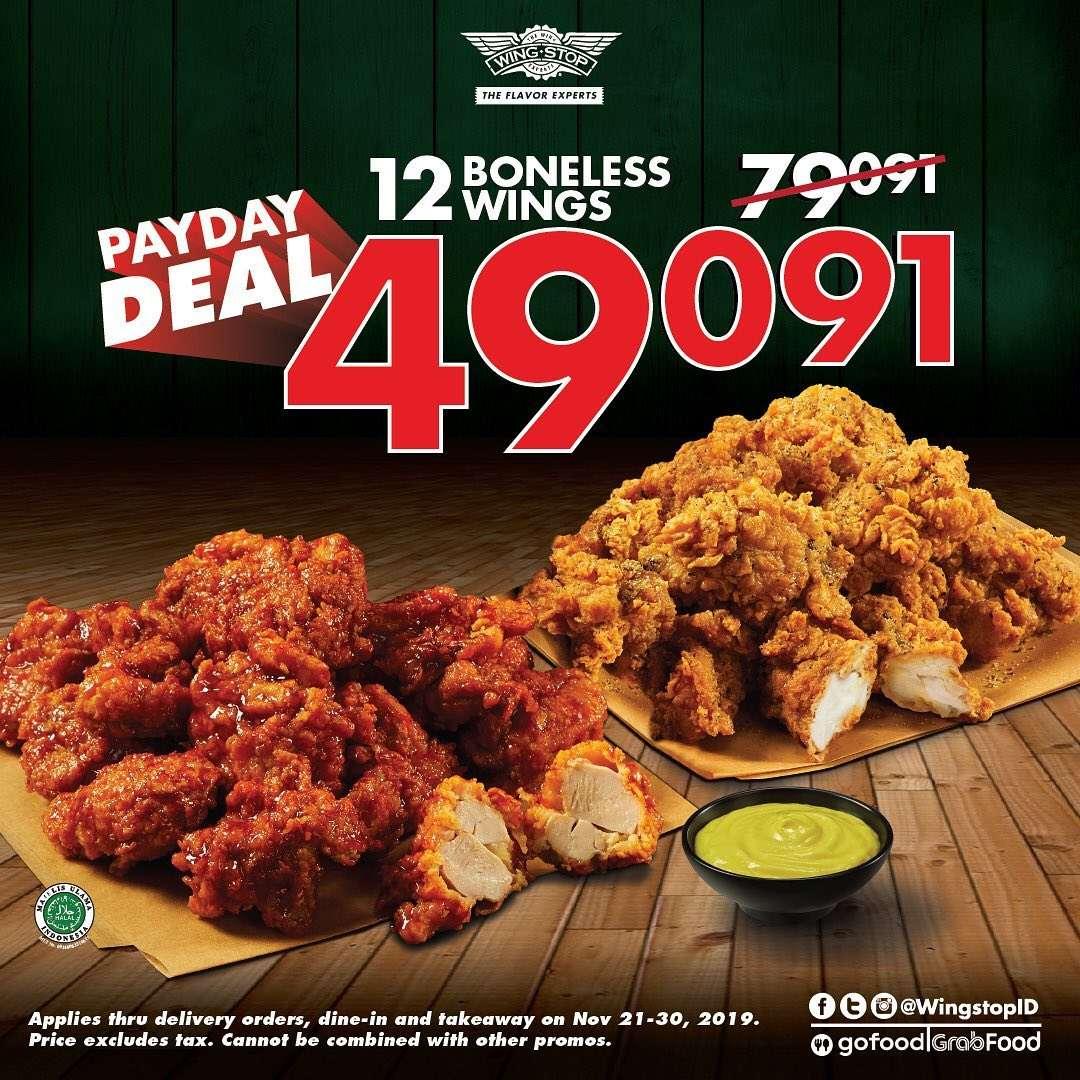 Wingstop Promo Payday, Beli 10 Crunchy Wings Cuma Rp. 49.091