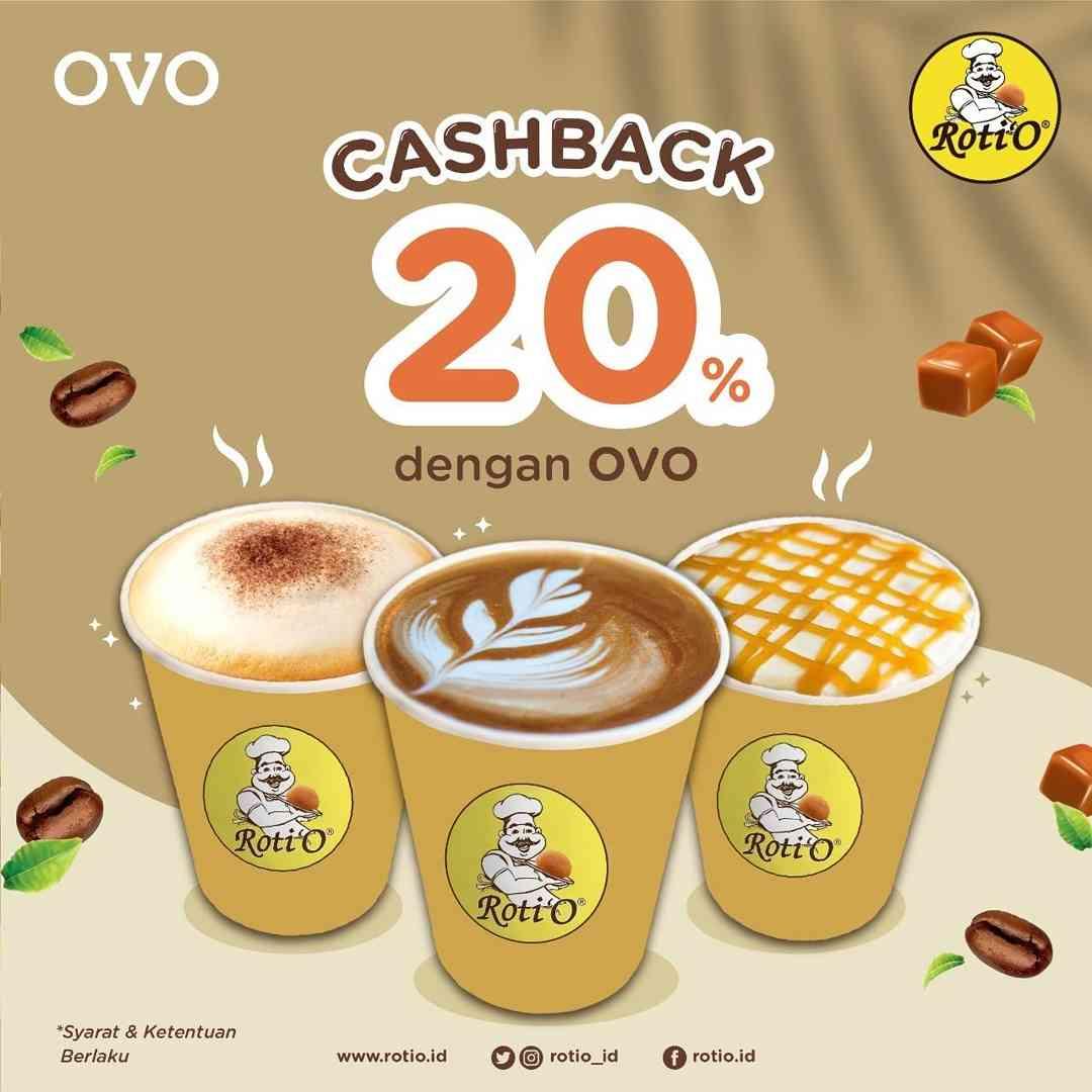 ROTI'O Promo Cashback 20% dengan OVO