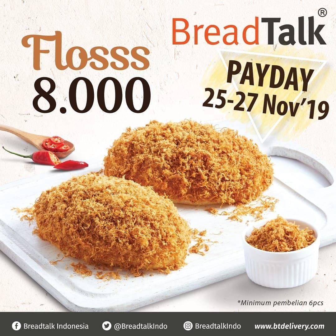 Diskon Breadtalk Payday Promo Roti Flosss Hanya Rp.8,000*