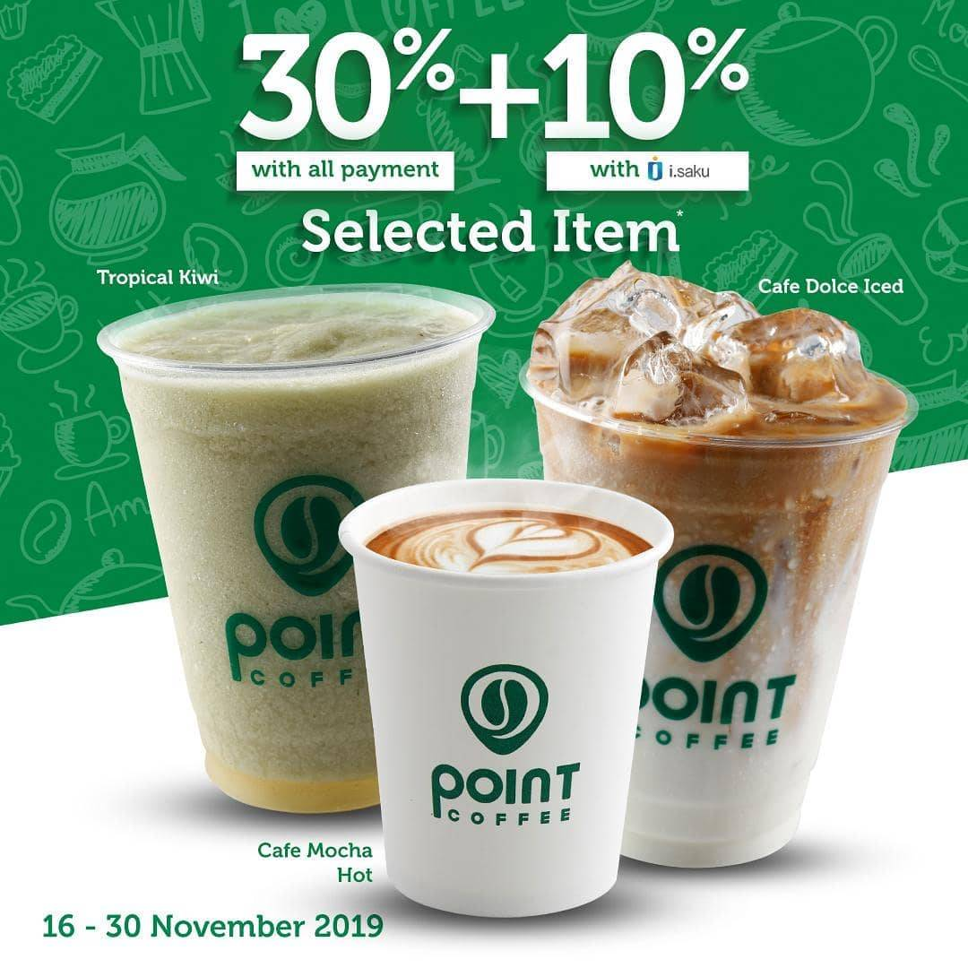 Indomaret Point Coffee Promo 30% + 10% dengan iSaku