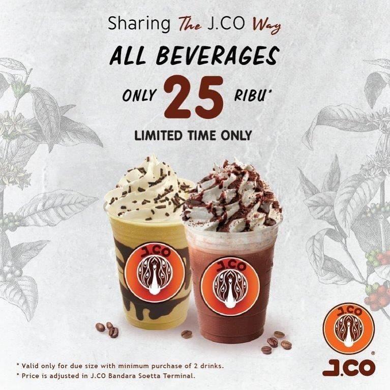 JCo Promo Semua Minumann Hanya Rp. 25.000 Mulai 25 November