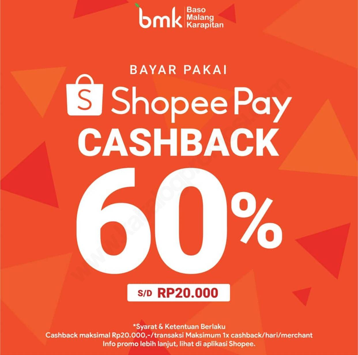 BMK Baso Malang Karapitan Promo Cashback 60% dengan ShopeePay