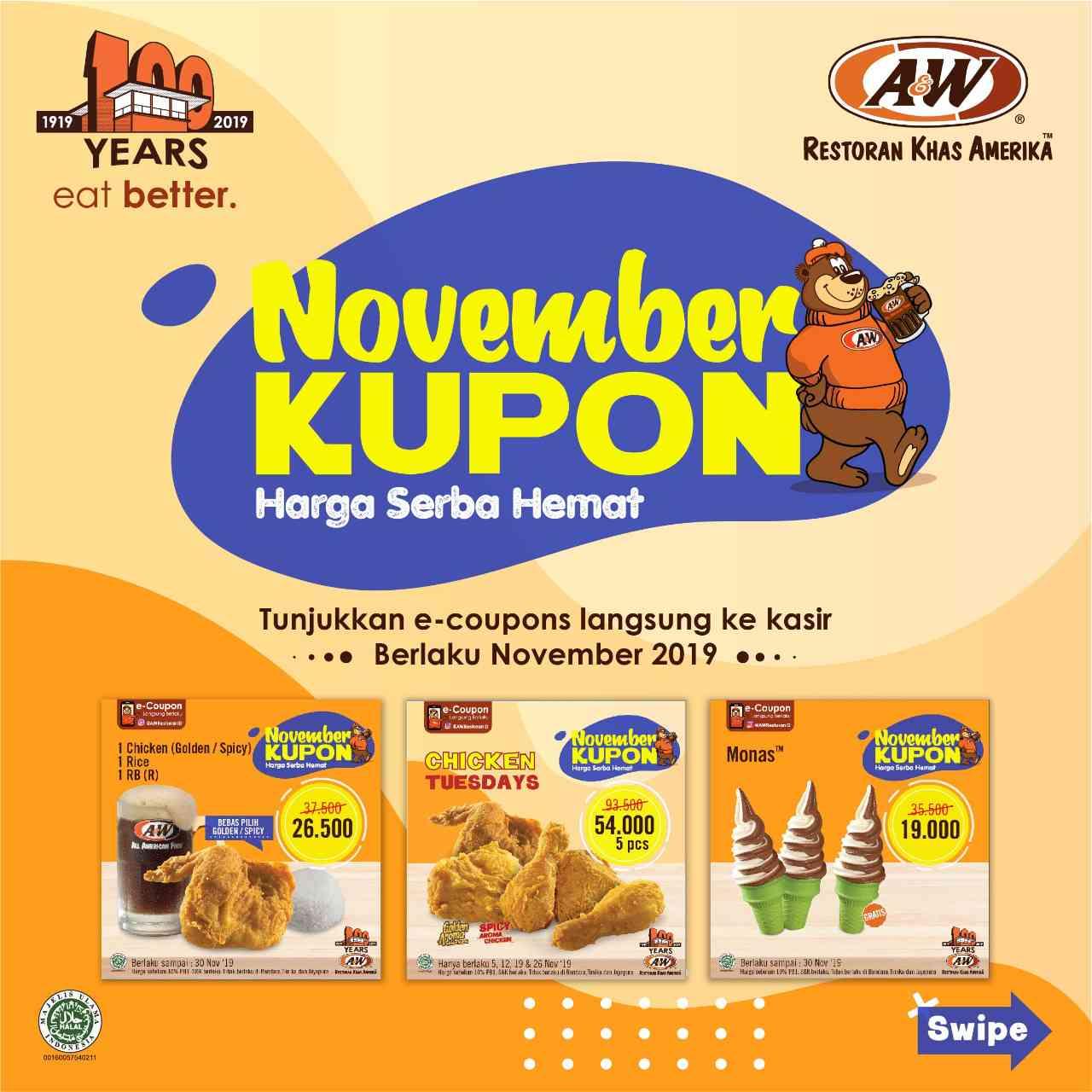 Diskon A&W Promo Kupon November Hemat