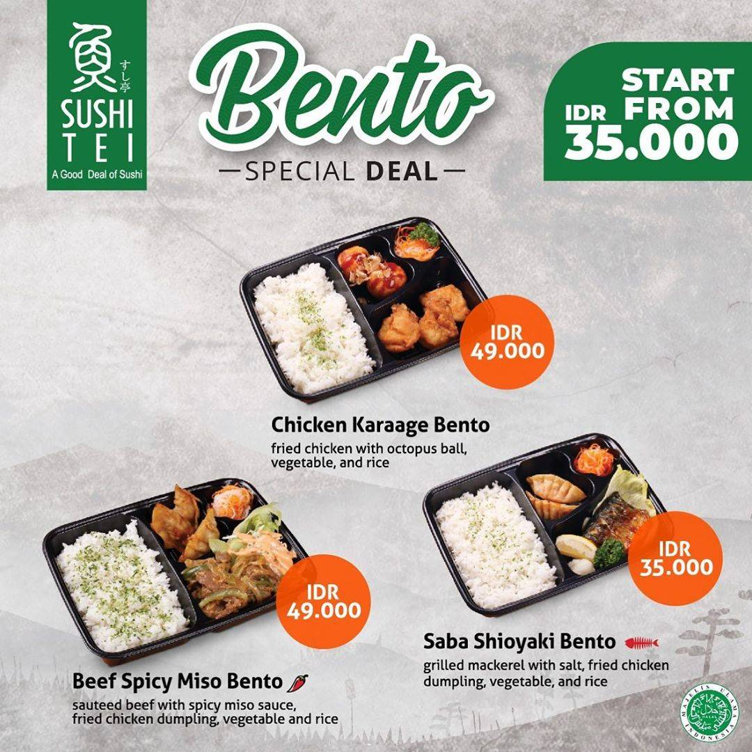 Sushi Tei Bento Special Deal mulai Rp. 35.000