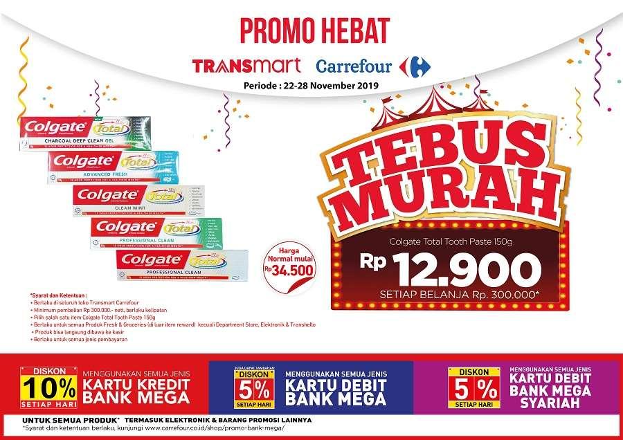 Transmart Promo Tebus  Murah Colgate Total Tooth Paste 150g Rp. 12.900