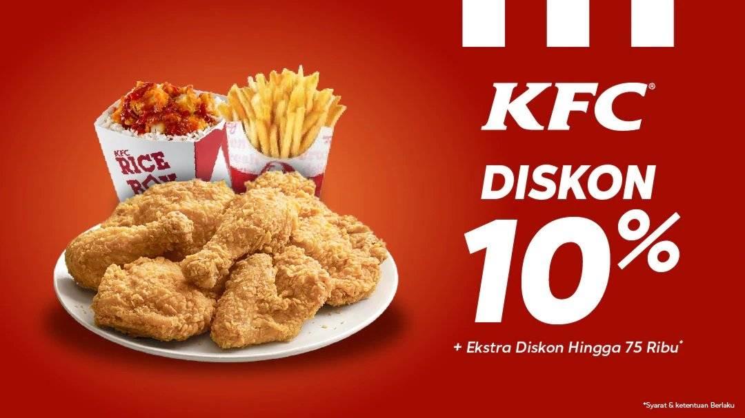 Blibli Promo Voucher KFC, Diskon 10%