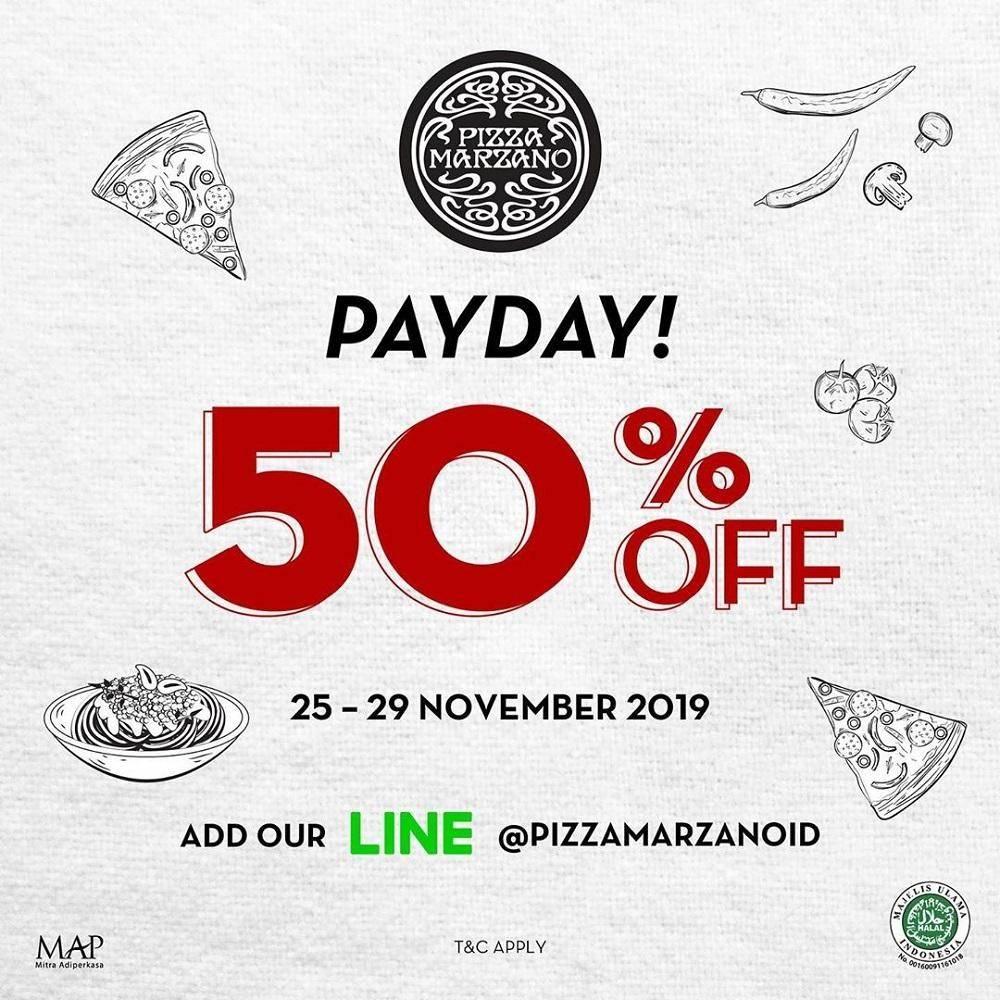 Pizza Marzano Promo Payday Deal Diskon 50% dengan Kupon LINE