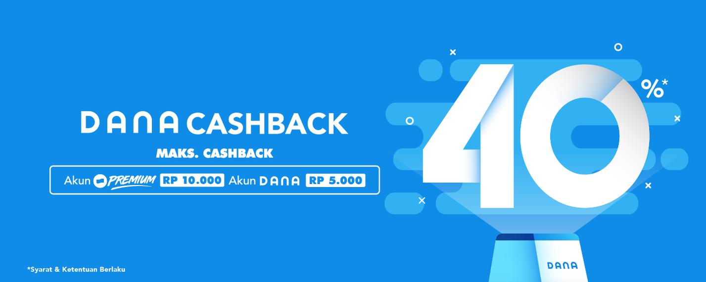 Dana Promo Cashback hingga 40% di Merchant Favorit