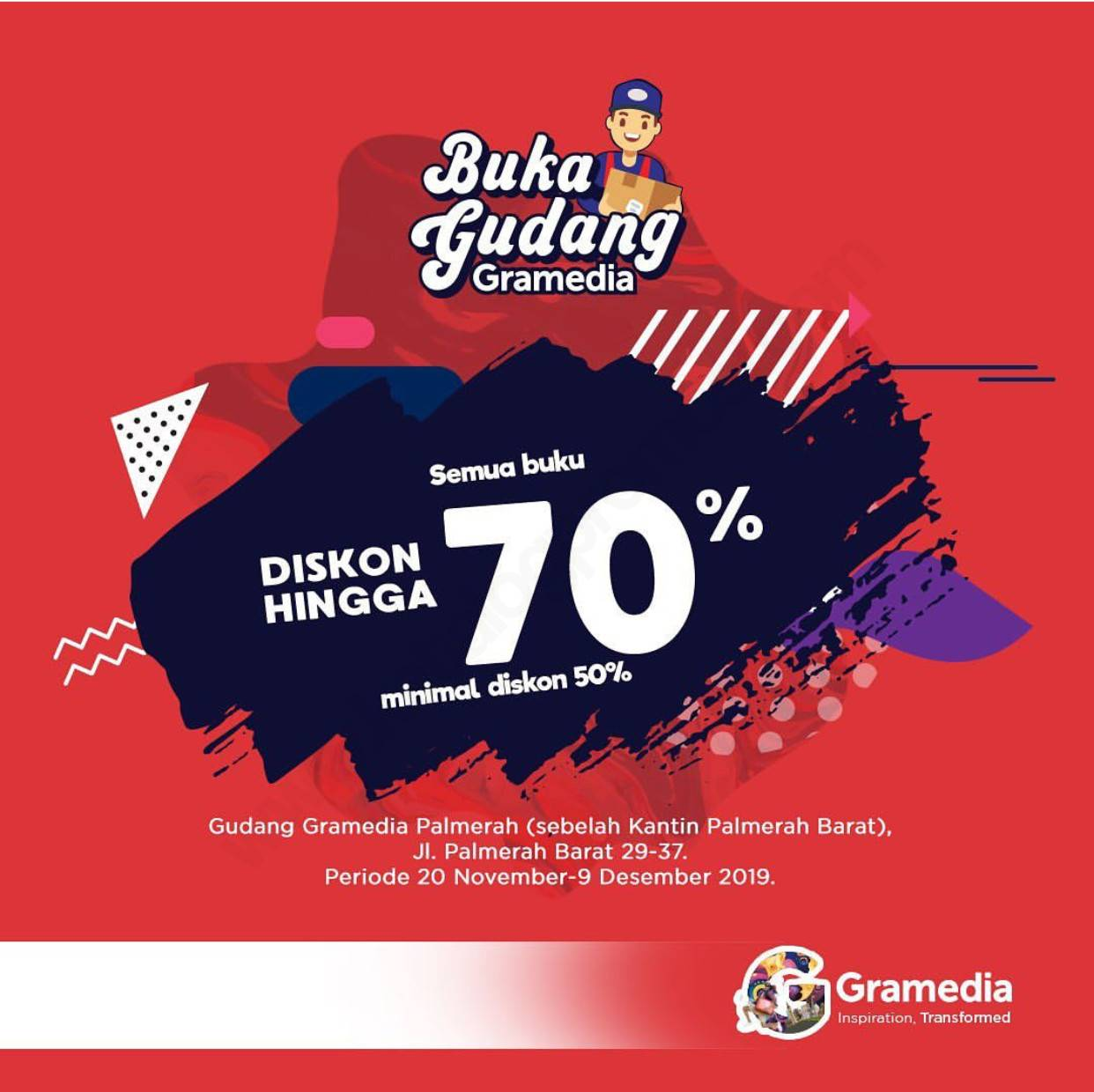 Gramedia Promo Buka Gudang Diskon hingga 70% di Gramedia Palmerah