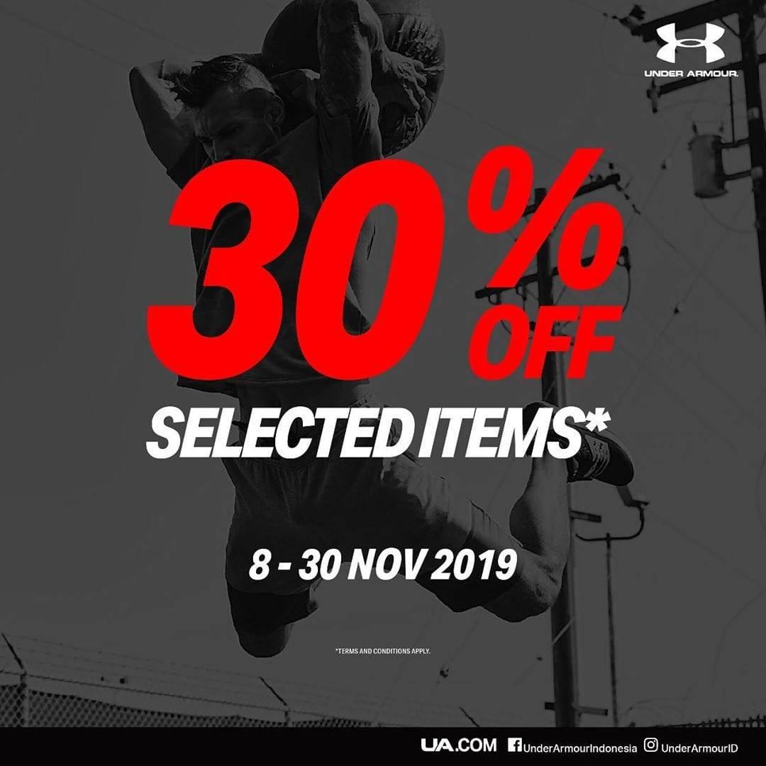Under Armour Promo November Ceria Diskon 30%