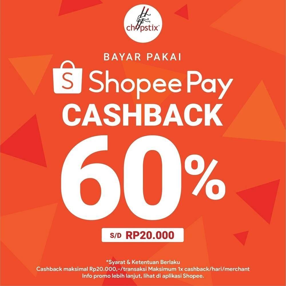 Diskon ChopStix Promo Cashback 60% dengan ShopeePay