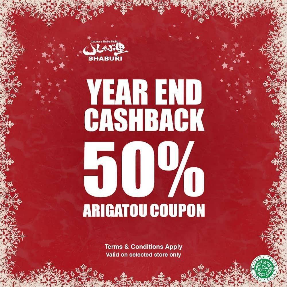 Shaburi Kupon Cashback 50% di Lokasi Tertentu