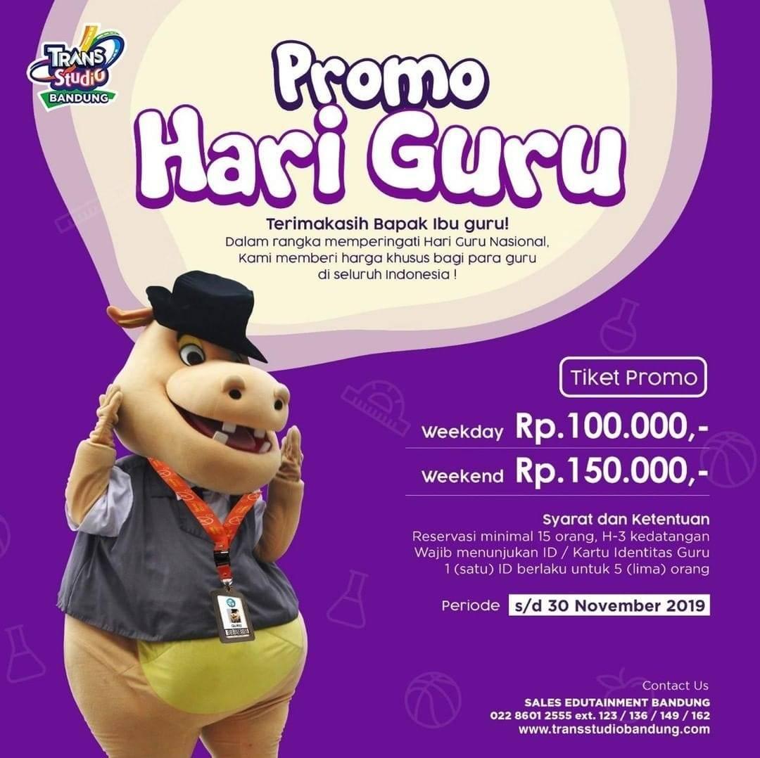 Trans Studio Bandung Promo Hari Guru HTM Mulai Rp. 100.000