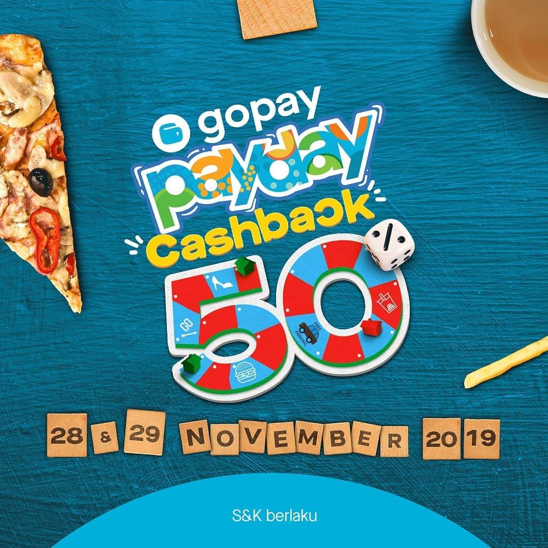 Gopay Payday Promo Cashback Hingga 50% di Ratusan Merchant