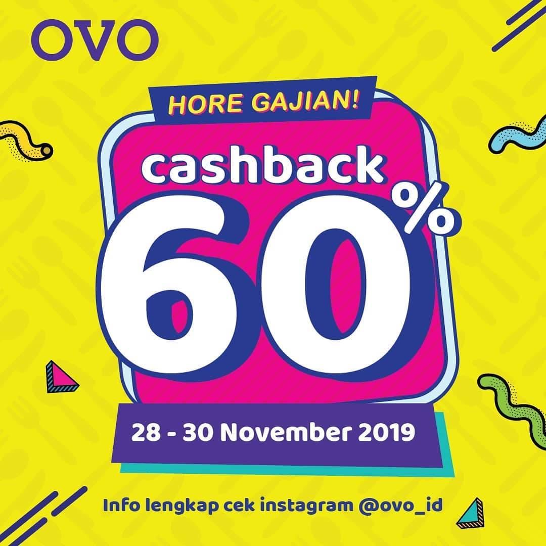 OVO Hore Gajian Cashback 60% Jajan Puas Se-Indonesia