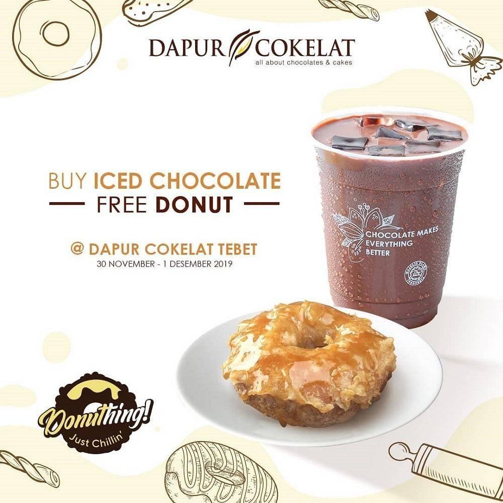 Dapur Cokelat Promo Buy Iced Chocolate Get Free Donut