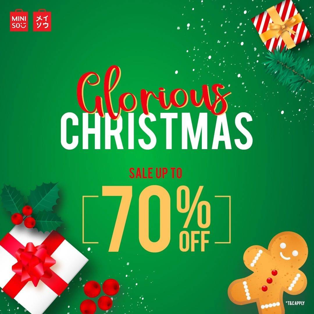 Miniso Glorious Christmas Sale Up To 70% Off Minimum Purchase Rp 150,000