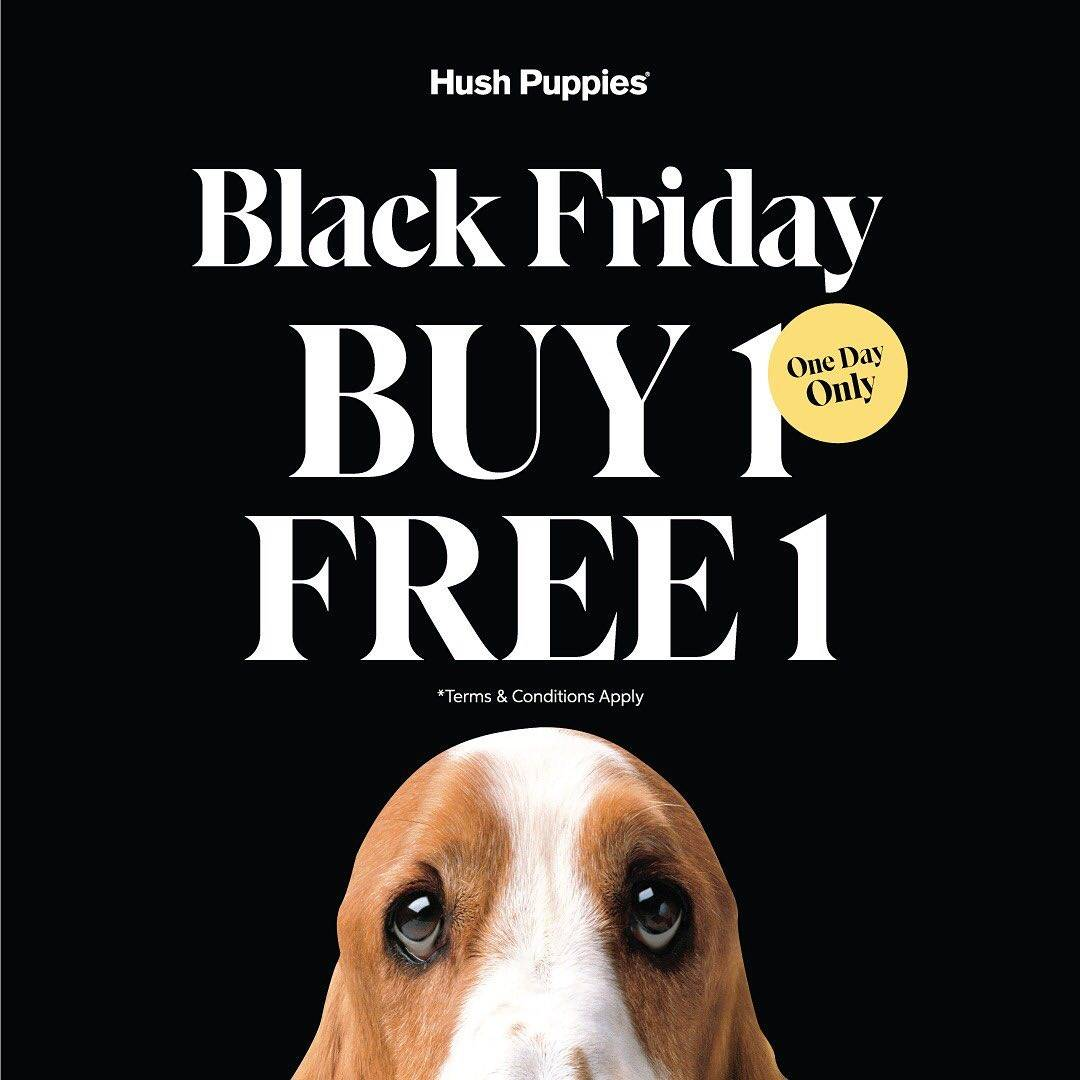 Diskon  Hush Puppies Black Friday Promo Buy 1 Get 1 Free