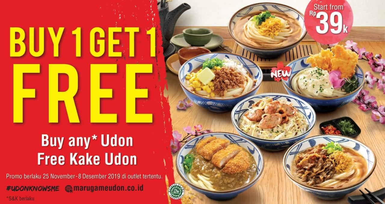 Marugame Udon Promo Spesial Akhir Pekan Beli 1 Gratis 1