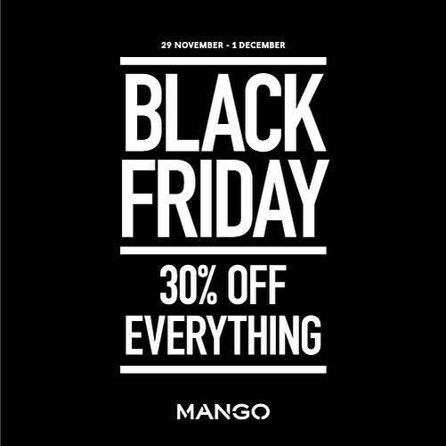 Diskon Mango Promo Black Friday Sale Diskon 30%