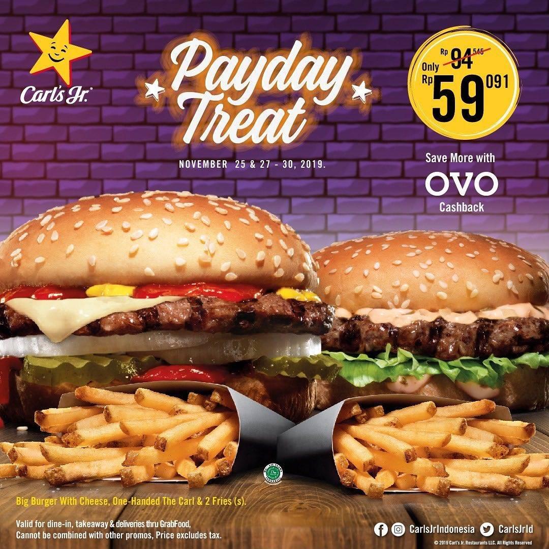 Diskon Carls Jr Promo Payday Treat Makan Enak Cuma Rp. 59 Ribuan!