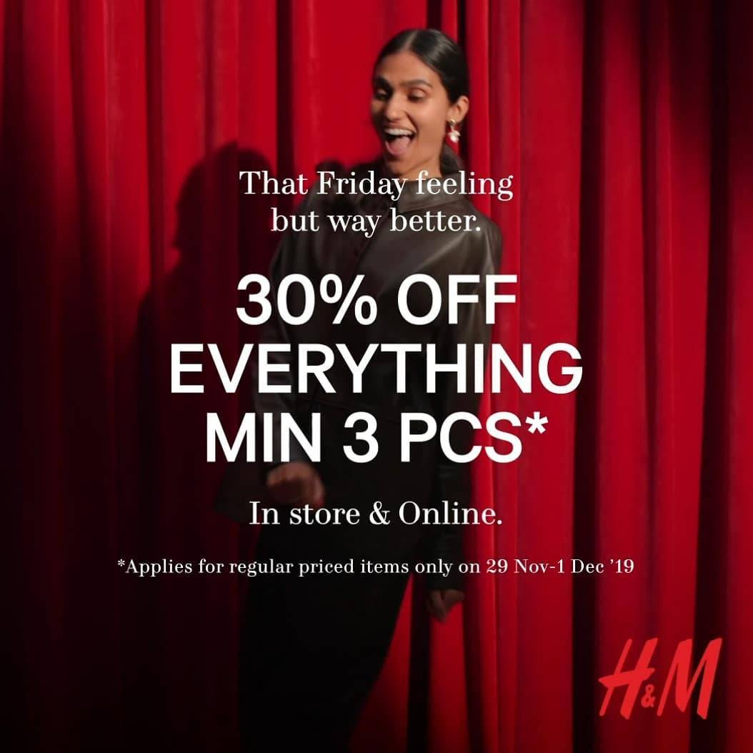 H&M Fashion Promo Black Friday Diskon 30%