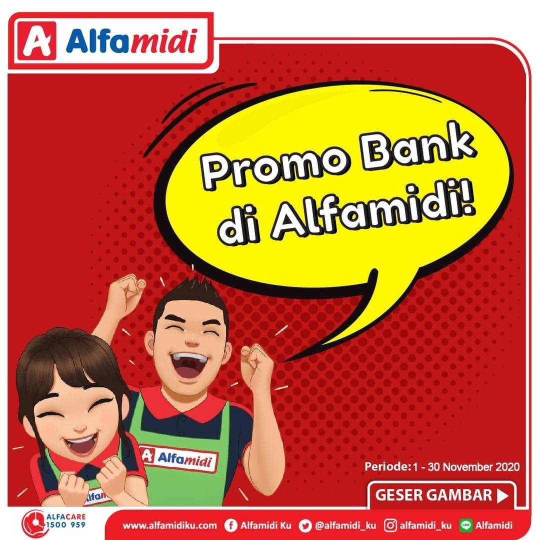 Diskon Katalog Alfamidi Promo Bank Terhemat di Alfamidi Periode 1 - 30 November 2020