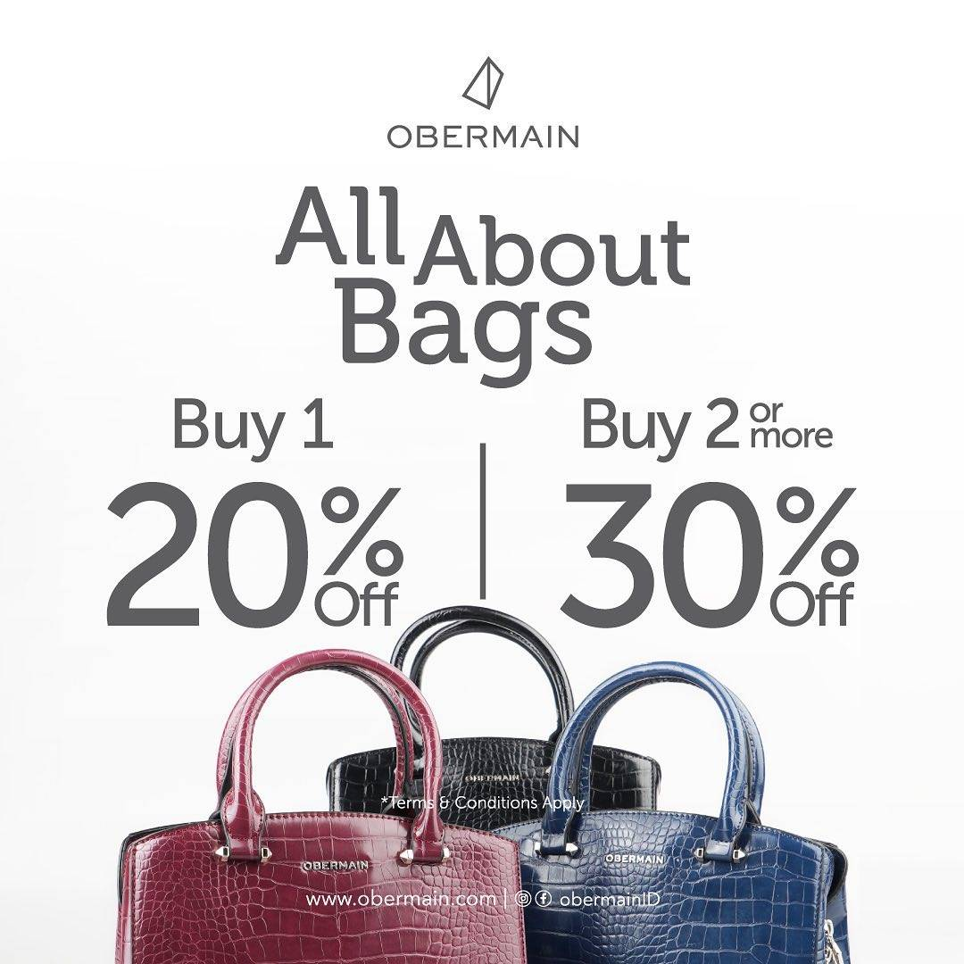 Diskon Obermain Promo All About Bags Discount Up To 30% Off