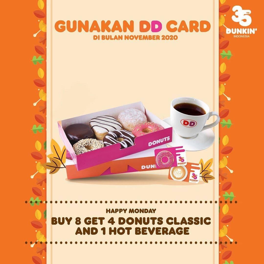 Diskon Dunkin Donuts Promo DD Card November